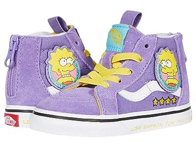 Vans Kids Vans X The Simpsons Sneaker Collection (Infant/Toddler) ((The Simpsons) Lisa 4 Prez (Sk8-Hi Zip)) Kid