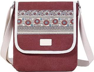 ArcEnCiel Small Messenger Bag for Women Canvas Shoulder Crossbody Satchel Purse