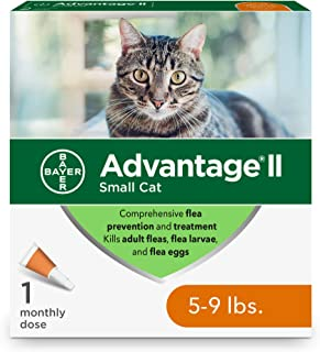 Bayer Advantage II Flea Prevention for Small Cats, 5-9 lbs