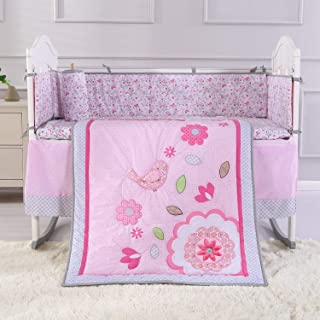 Nojo Dreamer Elephant 8-piece Crib Bedding Set In Pink/grey