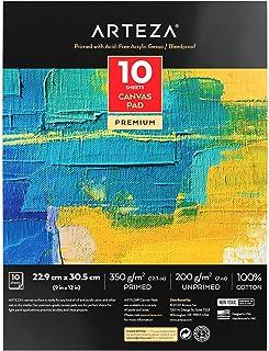 "Arteza Bloc de lienzos para pintar, 9x12"" (22,8 x 30"