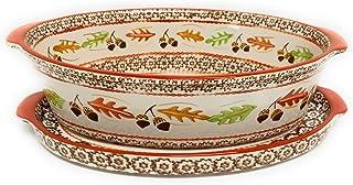 Temp-tations 2.5 Qt Oval Baker w/Deep Dish Lid-It (Tray) (Old World Harvest)