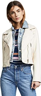 [BLANKNYC] Blank Denim Women's Denim & Vegan Moto Jacket