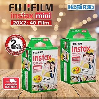 Fujifilm instax Mini 9 için 20'li Film 2'Lİ PAKET 40 poz