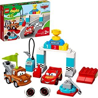 LEGO DUPLO Cars Lightning McQueen's Race Day 10924 Disney and Pixars Cars movies set, Preschool Toy for Toddlers 2+ years ...