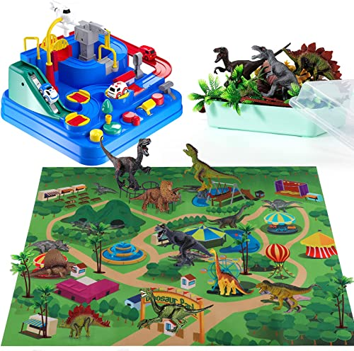 discount Temi Kids Race Track Toys for Boy Car Adventure Toy and outlet online sale TEMI Dinosaur outlet sale Toy , Educational Realistic Dinosaur Playset online