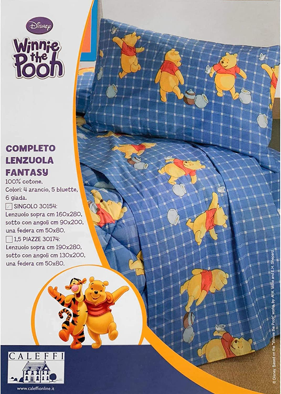 Caleffi Completo Lenzuola Winnie The Pooh Fantasy Verde Una Piazza Lenzuola E Federe Casa E Cucina Aaaid Org
