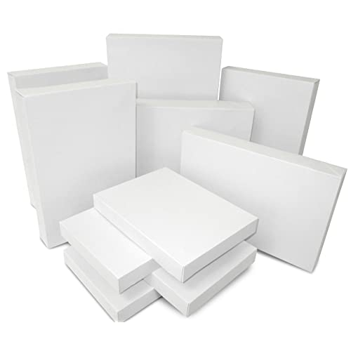 GREETING CARD GIFTS LINGERIE JEWELLERY 10 WHITE 8 x 8 INCH BOXES