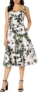 Women's Floral Tea Length Dress