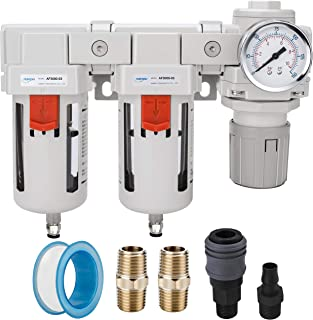 Air Dryer for Compressor Air Compressor Accessories Air Dryer,Air Compressor Regulator Air Compressor Regulator with Gauge Solimeta Air Filter Regulator Combo BFR4000 1//2 NPT