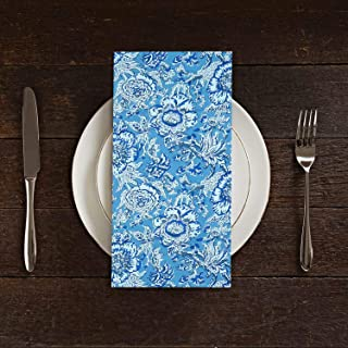 Dining Napkin Set of 4 Tabletop Accessories Home Decor Napkin Indian Cotton Block Printed Fabric Napkins