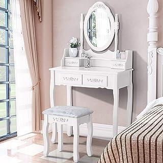 Amazon.com: Wood - Vanities & Vanity Benches / Bedroom Furniture ...