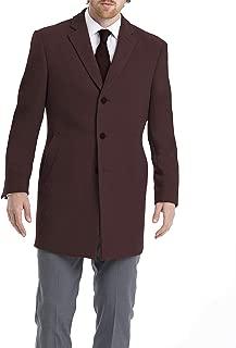 Men's Slim Fit Wool Blend Overcoat Jacket