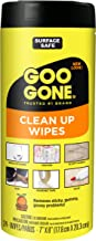 Goo Gone Clean Up Wipes Adhesive Remover – 24 Count – Removes Adhesive..