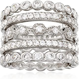 Sponsored Ad - Ross-Simons 2.50 ct. t.w. CZ Jewelry Set: 5 Eternity Bands in Sterling Silver