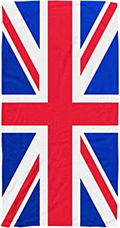 Shorping Kids,Baby,Women and Men Beach Towels Great Britain United Kingdom Flag 30x60 Inch Large Pool Towels for Body Bath,Swimming,Travel,Camping,Sport,Blue Red 2