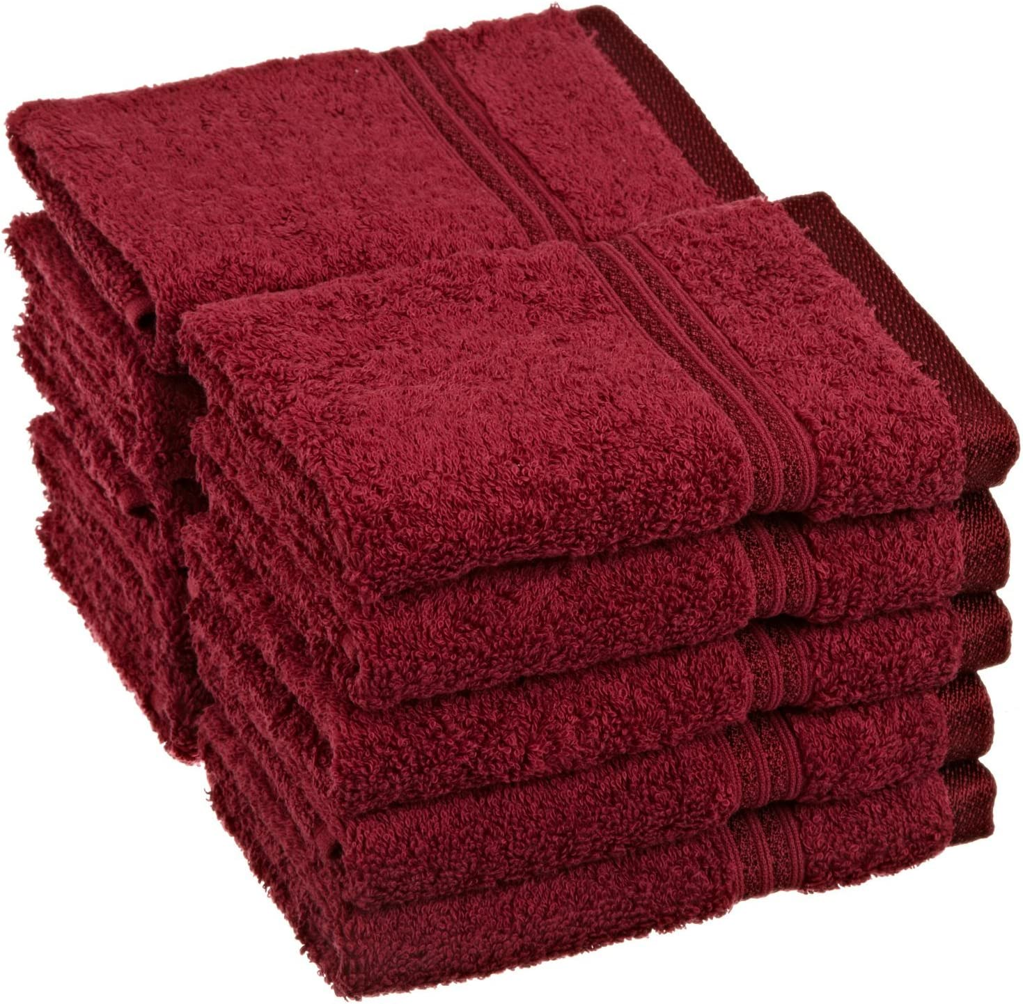 SUPERIOR 10-Piece 600 GSM San Diego Mall Egyptian Set Cotton Face Towel Choice Burgun