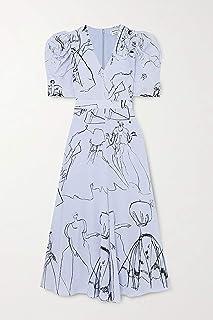 [(アレキサンダーマックイーン) Alexander McQueen] [レディース ワンピース・ドレス ワンピース Gathered printed silk crepe de chine midi dress ] [並行輸入品]