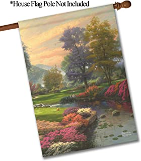 """Flagology.com, Thomas Kinkade, Living Waters I – House Flag – 28"""" x 40"""", Outdoor, Large, House Flag, 28x40, Exclusive Premium Fabric, Printed on Both Sides"""