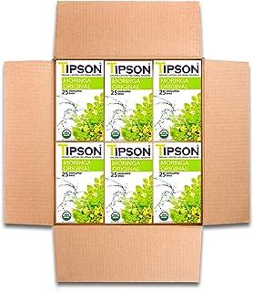 Tipson Tea Organic Moringa Original Tea with Herbal Infusions- Caffeine Free - 150 Tea Bags by MunchBox