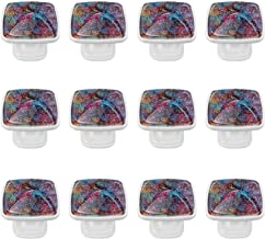 12 Pack Ronde Keukenkast Knoppen Trekt (1,18 Diameter) - Bloemenprint - Dressoir Lade/Deur Hardware - DIY Patroon Maatwerk