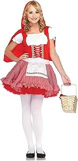 Leg Avenue Women's 2 Piece Red Hiding Hood Costume White/Medium, Large