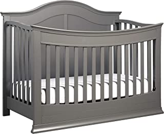 DaVinci Meadow 4-in-1 Convertible Crib with Toddler Bed Conversion Kit in Slate | Greenguard Gold Certified