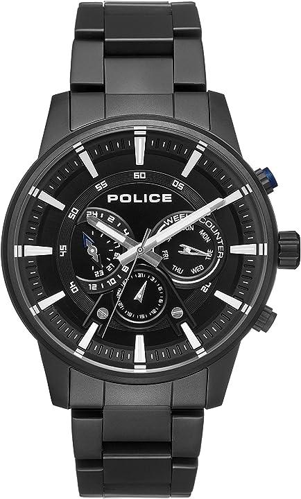 Orologio police multi-quadrante quarzo uomo con cinturino in acciaio inox pl.15523jsb/02m