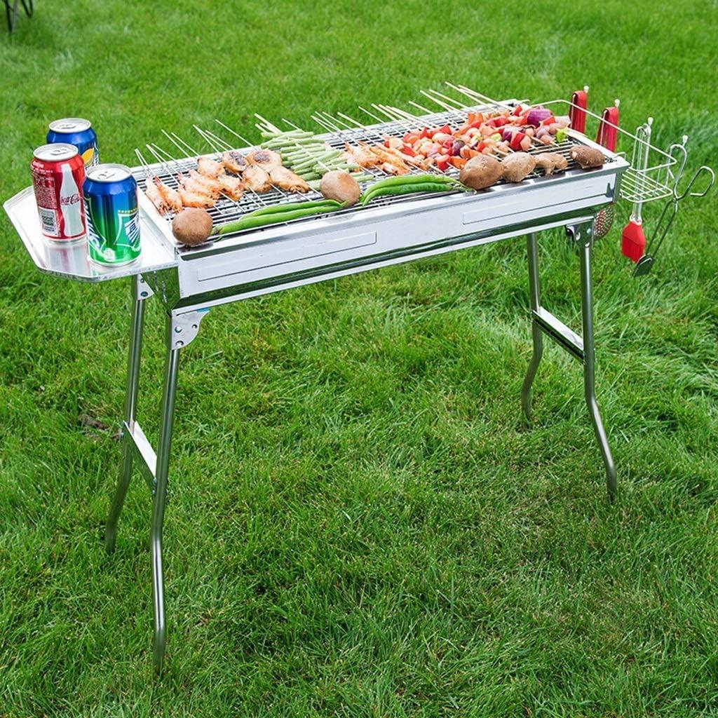 Barbecue-Grill Edelstahl-Barbecue-Grill, Haushalts-Klappofen-Grill im Freien Tragbare Grillwerkzeuge (mehr als 5 Personen) (Farbe: A) A