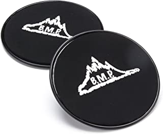 Black Mountain Products Core Exercise Sliders Gliding Discs (Set of 2), Black