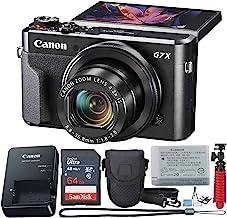 Canon PowerShot Digital Camera G7 X Mark II with Wi-Fi & NFC, LCD Screen, and 1-inch Sensor - (Black) 11 Piece Value Bundle