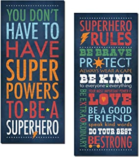 Superhero Rules Set by Stephanie Marrott; Two 8