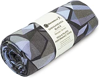 Mandelbrot X Yoga Towel | Non-Slip Mat Towel Ideal for Hot Yoga, Bikram, Pilates - Exclusive 4 Corner Anchor Pocket Design...