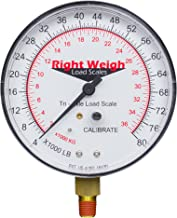 Right Weigh Replacement Gauge 310-80-GO (Gauge Only) Tri-Axle Exterior Analog Load Scale - for Single Height Control Valve Air Suspensions