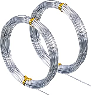 TecUnite 65.6 Feet Silver Aluminum Craft Wire, Soft and Flexible Metal Armature Wire for DIY Manual Arts and Crafts, 1.5 mm Thickness