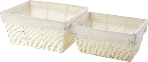 Urban Shop Stackable Storage Bin, Taupe