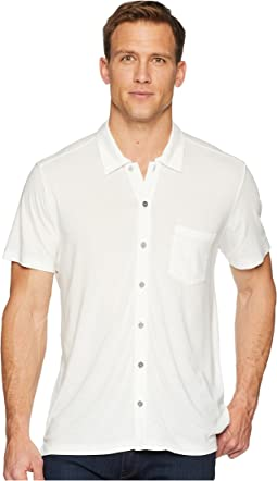 Fort Point Short Sleeve Full Button Polo