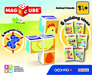 Geomag 132 Magicube Animals Friends - Magnetic Construction Cubes