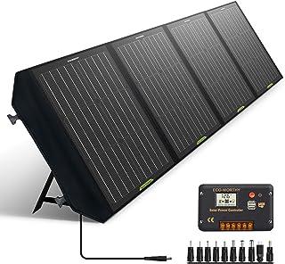ECO-WORTHY 120 W vikbar solpanel med laddningskontroll DC-utgång utomhus bärbar laddare i resväska för husvagn RV vandring...