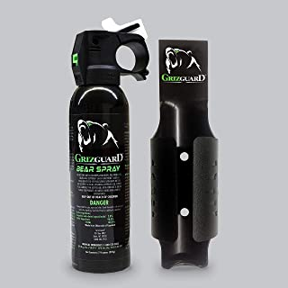 Griz Guard Bear Spray -Strongest Formula Allowed by EPA, Includes Griz Guard Holster