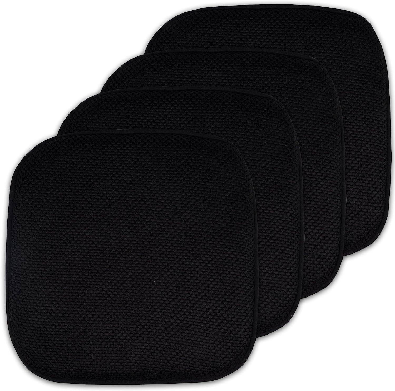 4 Pack Topics on TV Memory Foam Honeycomb Nonslip Back Cu Chair 16