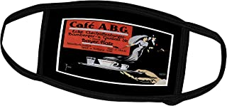 3dRose BLN Vintage Food and Drink Labels and Posters - Vintage Café A.B.G. Advertisement - Face Masks (fm_149250_1)