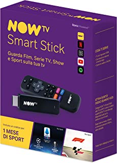 NOW TV Smart Stick con il primo mese di Sport incluso | Chiavetta streaming | TV