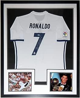 Cristiano Ronaldo Signed Authentic Jersey & Juventus & Ballon D'Or 8x10 Photo - BAS Beckett Authentication Services COA - Professionally Framed 34x42