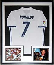 Cristiano Ronaldo Signed Authentic Jersey & Juventus & Ballon D'Or 8x10 Photo - BAS Beckett Authentication Services COA - Professionally Framed 34x42