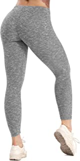 SEASUM Women's High Waist Active Energy Leggings Slimming Seamless Compression Fit Pants Workout Tights Tummy Control