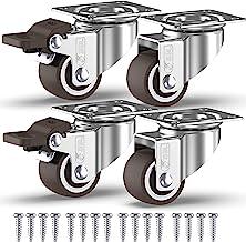 GBL - 4 Klein Rollen für Möbel  Schrauben 25mm 40KG Transportrollen Set | Lenkrollen mit bremse | Schwerlastrollen rollen für Palettenmöbel | Möbelrollen