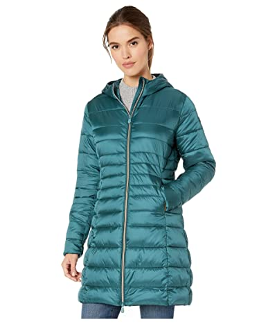 Save the Duck Iris 9 Hooded Puffer Coat (Evergreen) Women