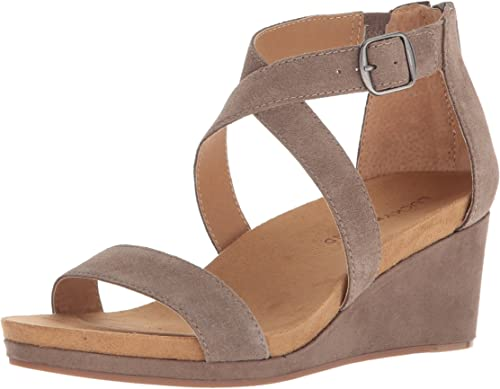 Lucky Brand Wohommes Kenadee Wedge Sandal, Brindle, Brindle, 7.5 M US  promotions promotionnelles
