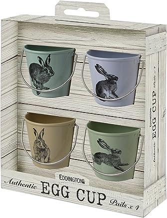 Eddingtons Vintage Hase Eierbecher Blecheimer, Set 4 - preisvergleich